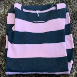 Charming Charlie charcoal and pink sweater dress